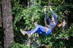 Tarzanie - Jízda na kladce